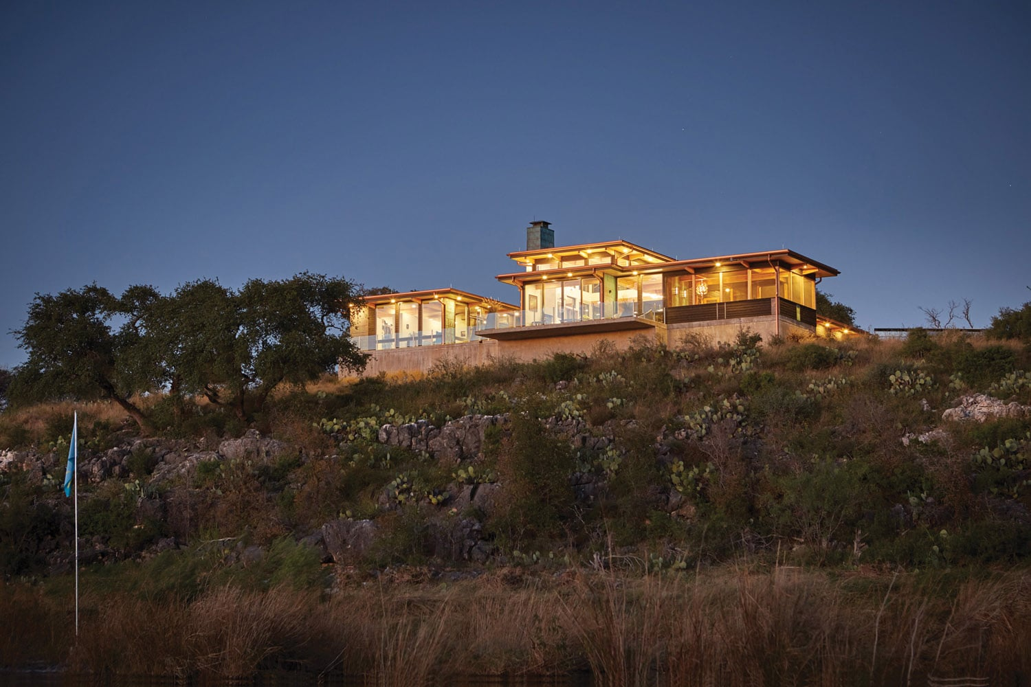 Jeff Derebery's custom Lindal Hestia home in the Texas Hill Country, Johnson City
