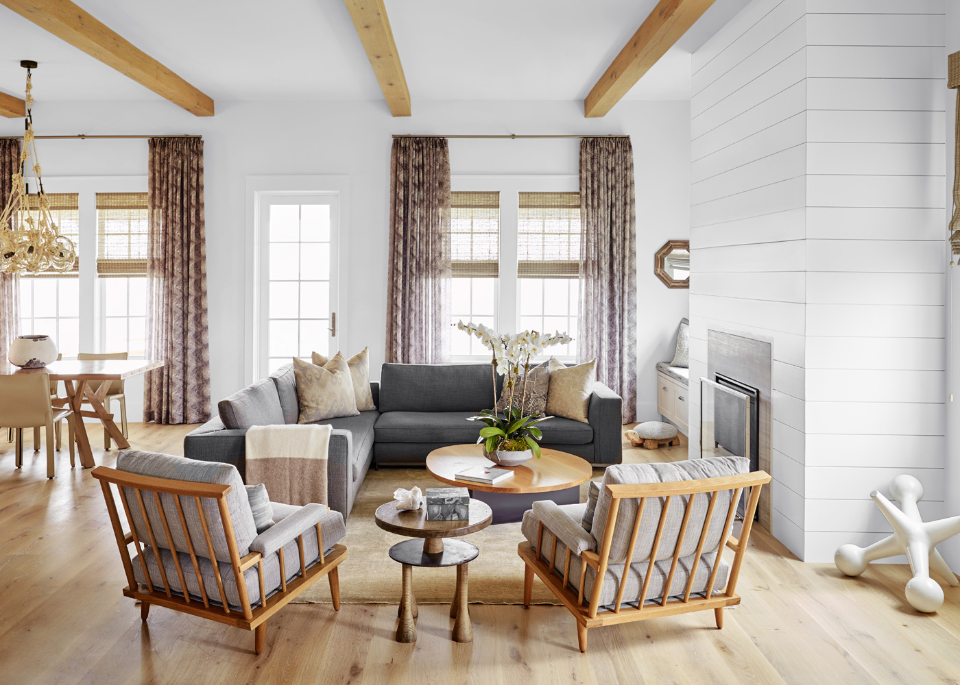 Galveston Beach House living room nautical beach house design
