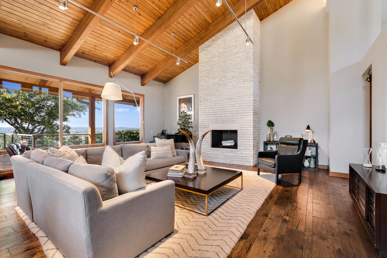 living room The Floyd Residence near Austin, Texas