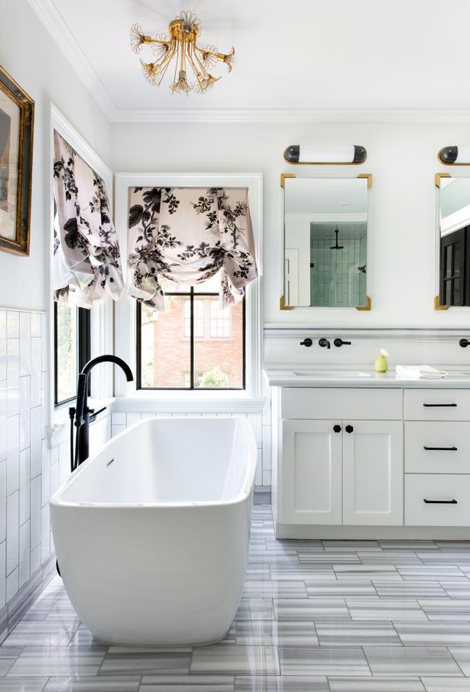 master bathroom design The Rice Boulevard House, in Houston