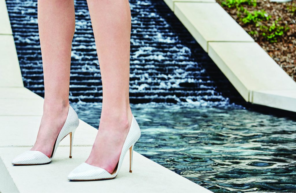 Seriously Studded Imagine Vince Camuto studded pump, $160: Tootsies. *For a more walkable look, look for a studded kitten heel.