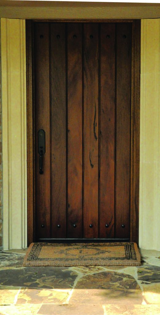 Consider updating or refinishing your front door for a fresh new look.