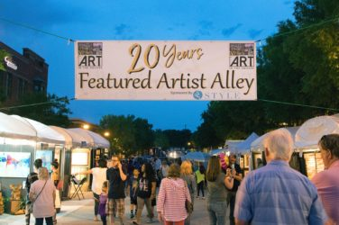 20th anniversar y of Art in the Square is a big success