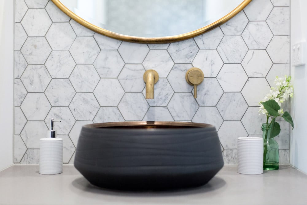 bathroom counter and tile trends 2019