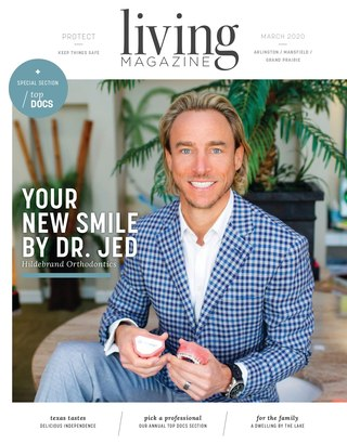 Arlington Tx Living magazine cover March 2020