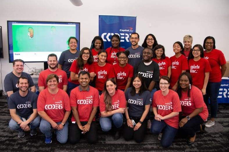 """Chinese-American architect I.M. Pei, Middle and high schoolers from Girls Inc. Of Metropolitan Dallas had the opportunity to """"use the force"""" at this year's Capital One Coders Ignite program."""