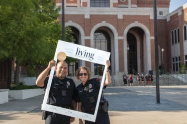 Lewisville Police Department Living magazine at Sounds of Lewisville in Lewisville Texas