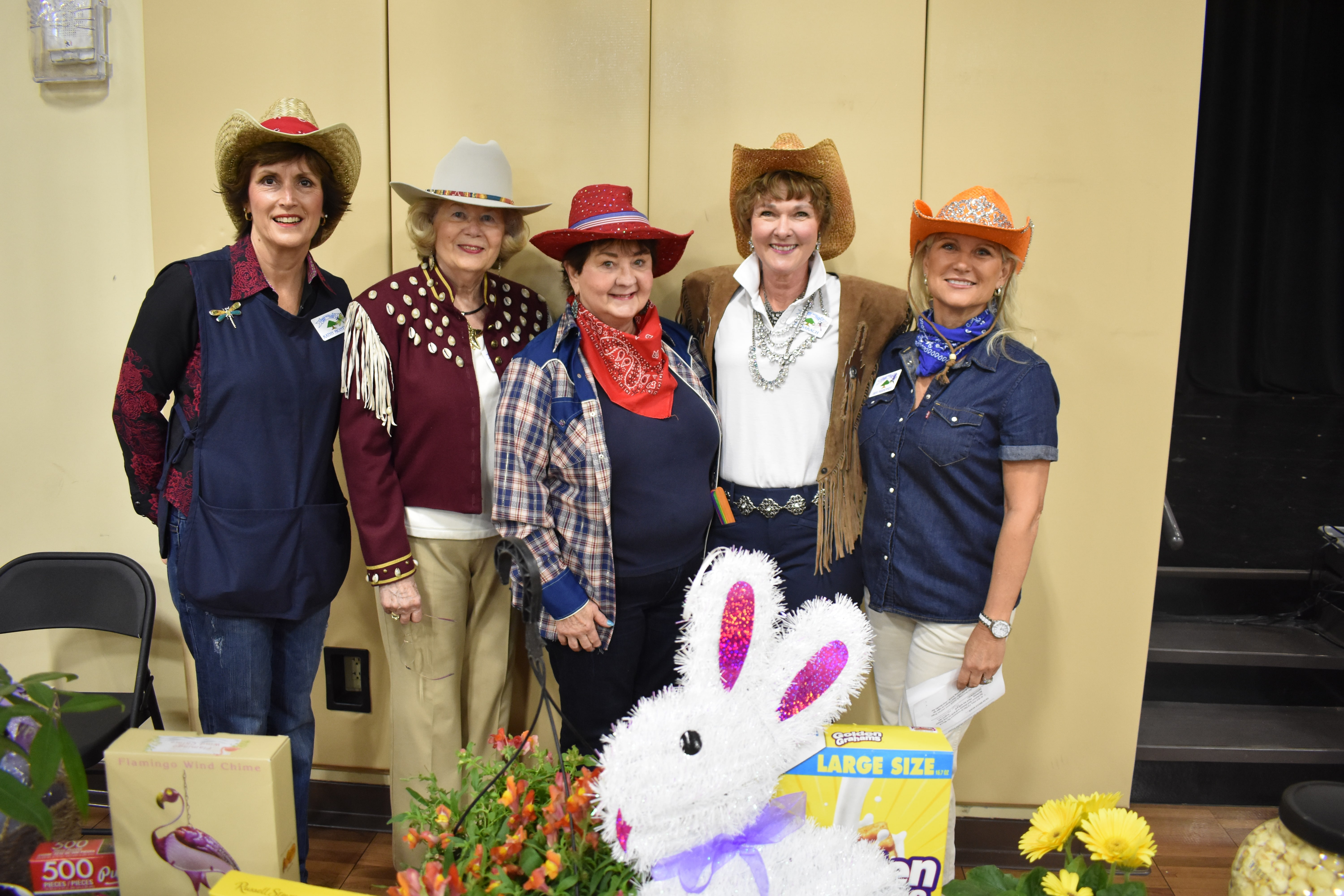 Cypress-Woodlands Junior Forum recently hosted a rodeo-themed luncheon for 186 senior citizens