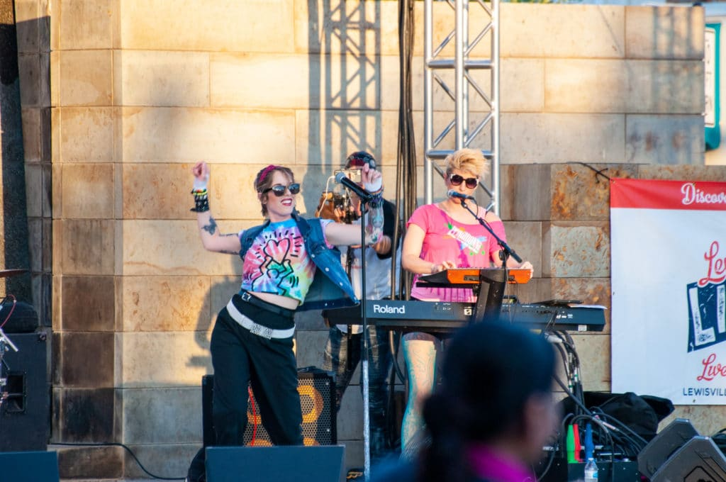 Primadonna at Living magazine at Sounds of Lewisville in Lewisville Texas Summer Concert Series