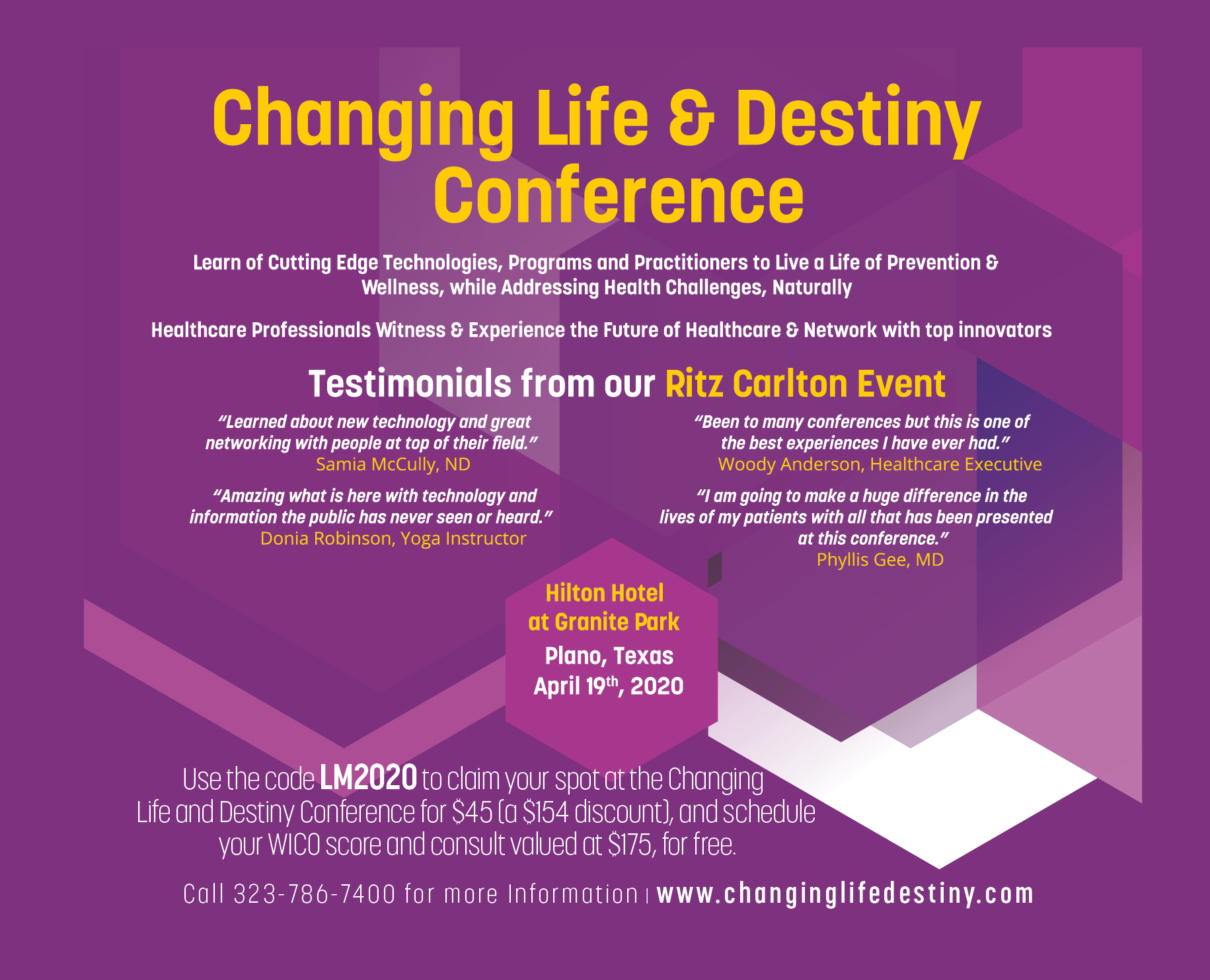 Changing Life and Destiny Conference