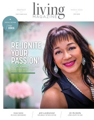 Fort Bend County Tx Living magazine cover March 2020