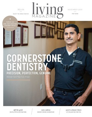 November 2019 Cover of Living Magazine Fort Bend County