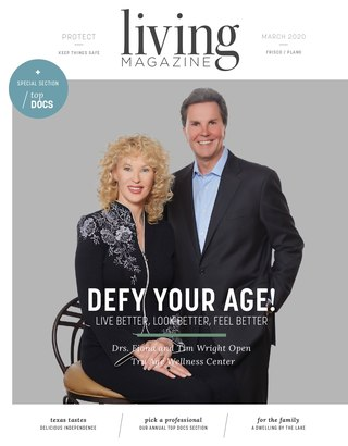 Frisco Plano Tx Living magazine cover March 2020