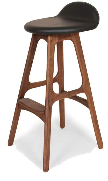 We love France & Son for their reproduction pieces like this Buch Bar Stool in walnut and leather. Ergonomic and stunning, the smooth form creates a casual feel with an air of sophistication. FranceAndSon.com