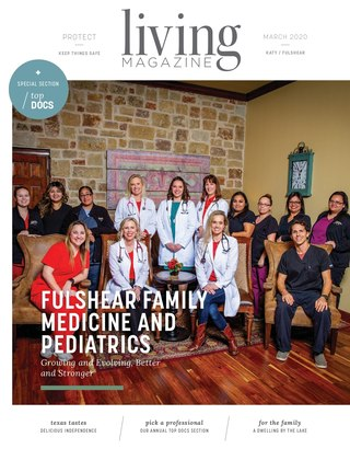 Katy Tx Living magazine cover March 2020