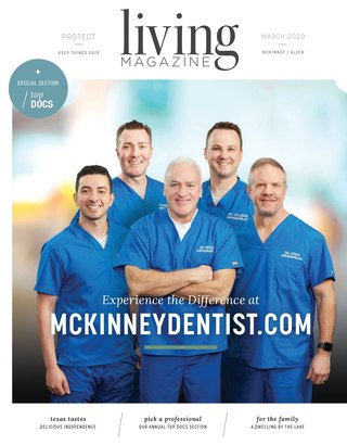 Mckinney Allen Fairview Lucas Tx Living magazine cover March 2020