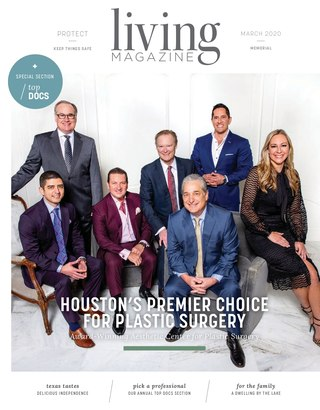 Memorial Houston Tx Living magazine cover March 2020
