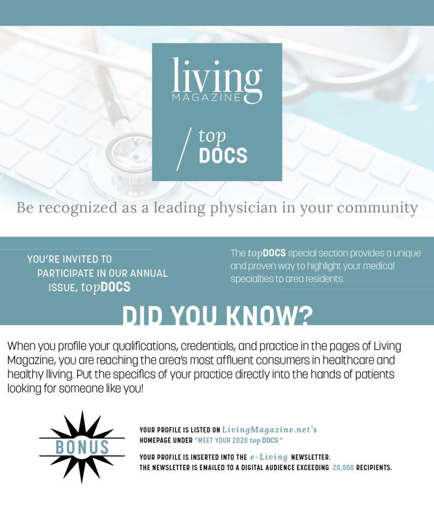 Top Docs 2020 Living Magazine