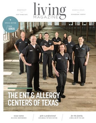 Richardson Murphy Tx Living magazine cover March 2020