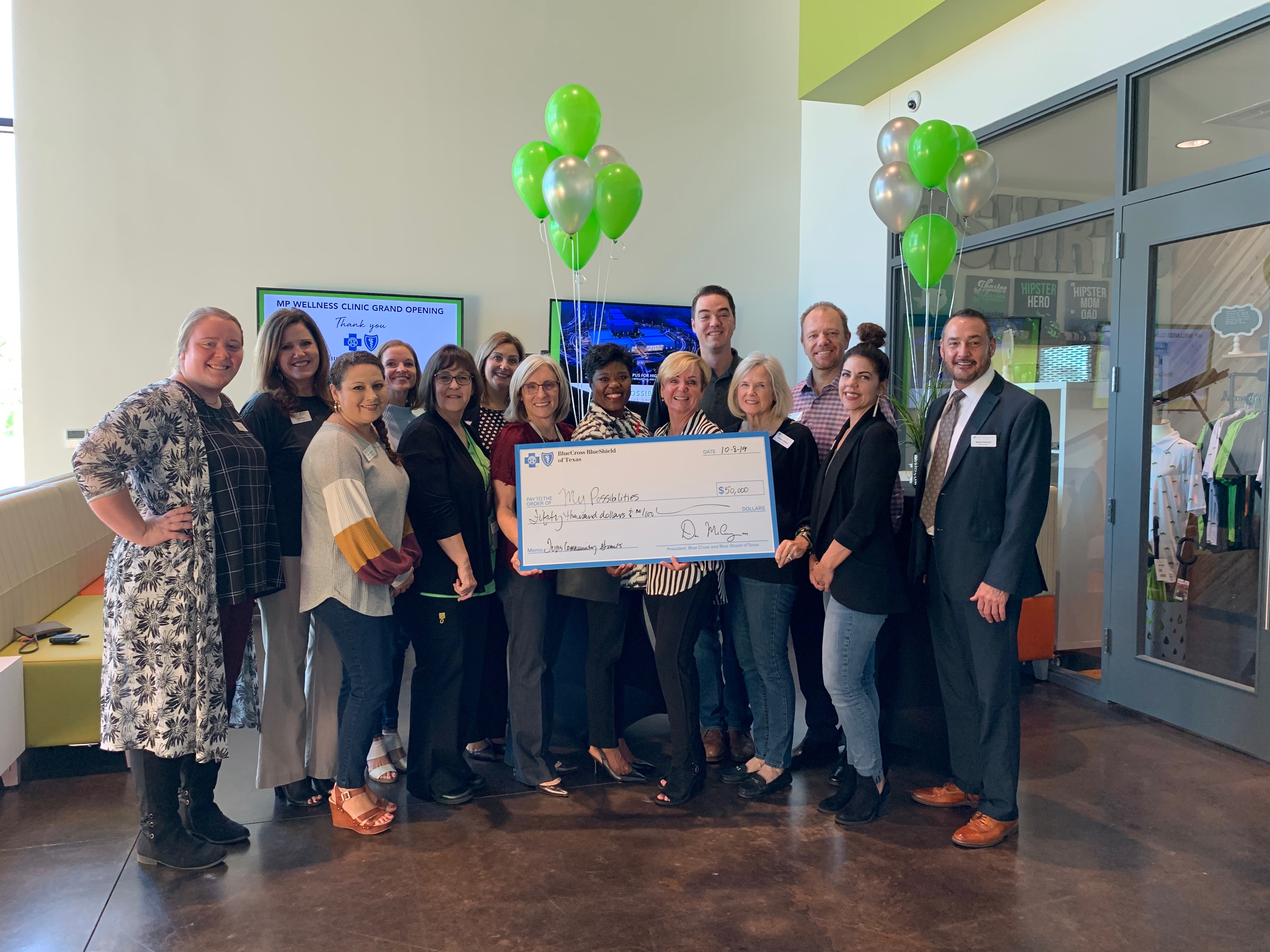 My Possibilities, a local vocational training center for adults with intellectual and/or developmental disabilities, has announced it was awarded a $50,000 grant by Blue Cross and Blue Shield of Texas (BCBSTX)