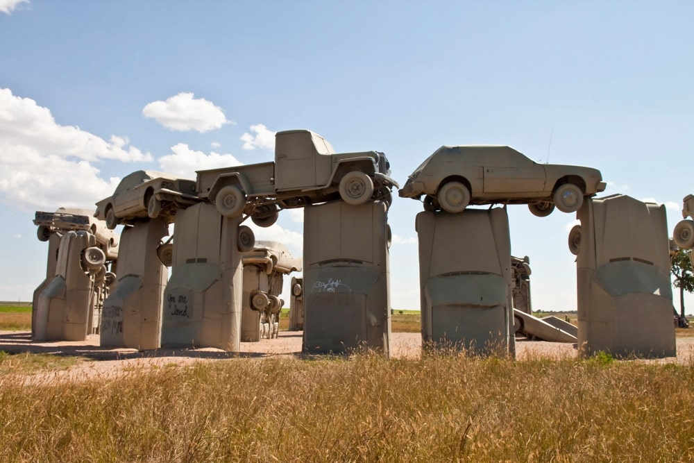 carhenge road trip with friends colorado
