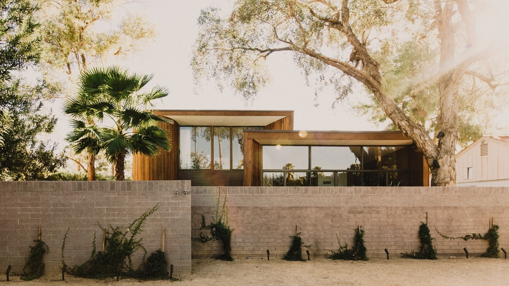 Renovated mid-century modern home in the desert