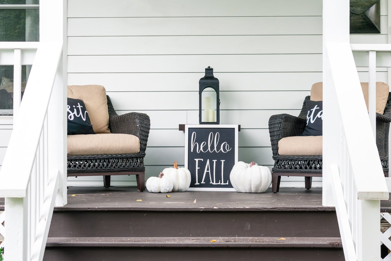 fall decor welcome sign