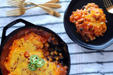 cast iron cheese enchilada bake recipe