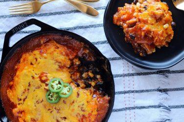 cast iron cheese enchilada bake recipe