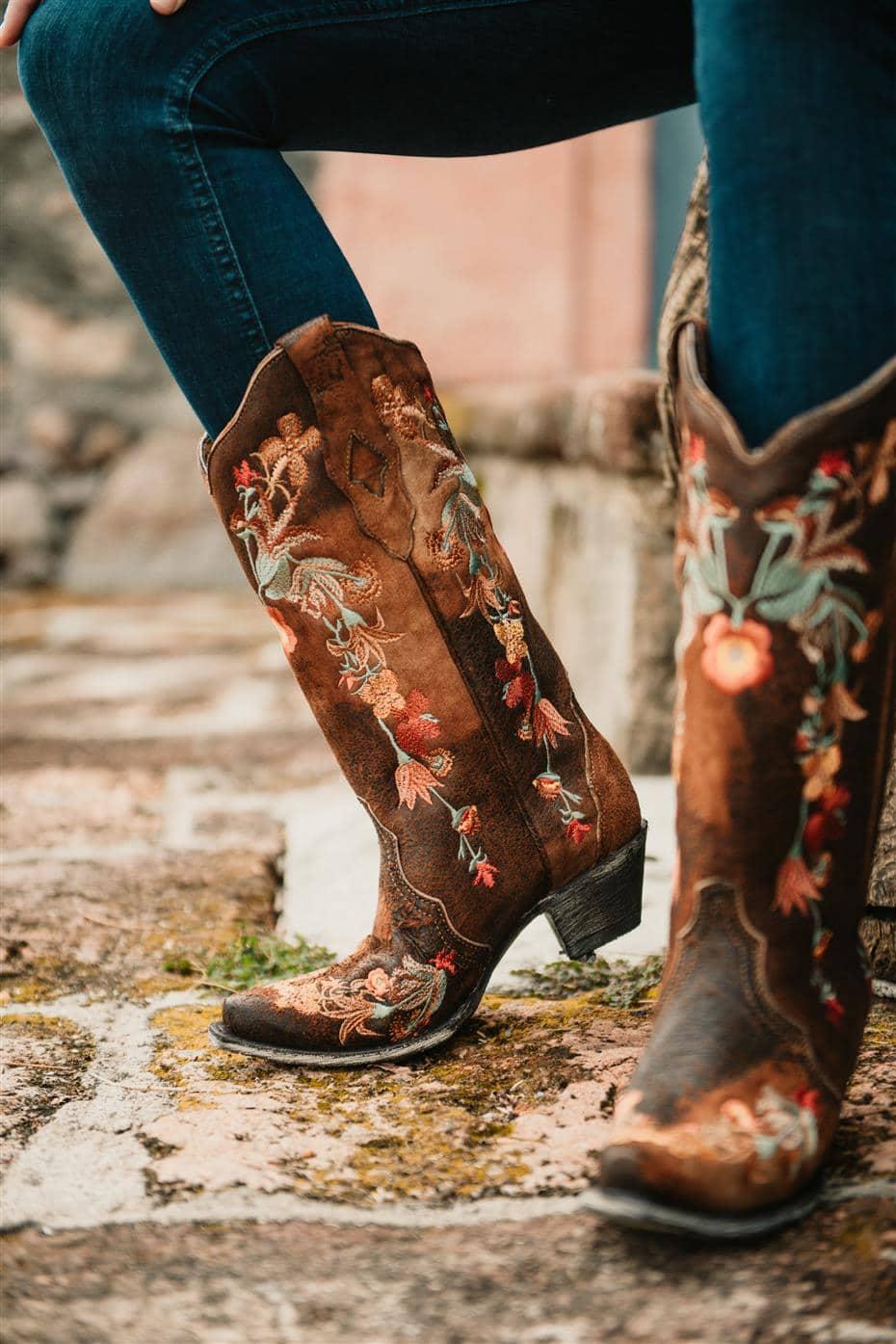 floral cowboy boots