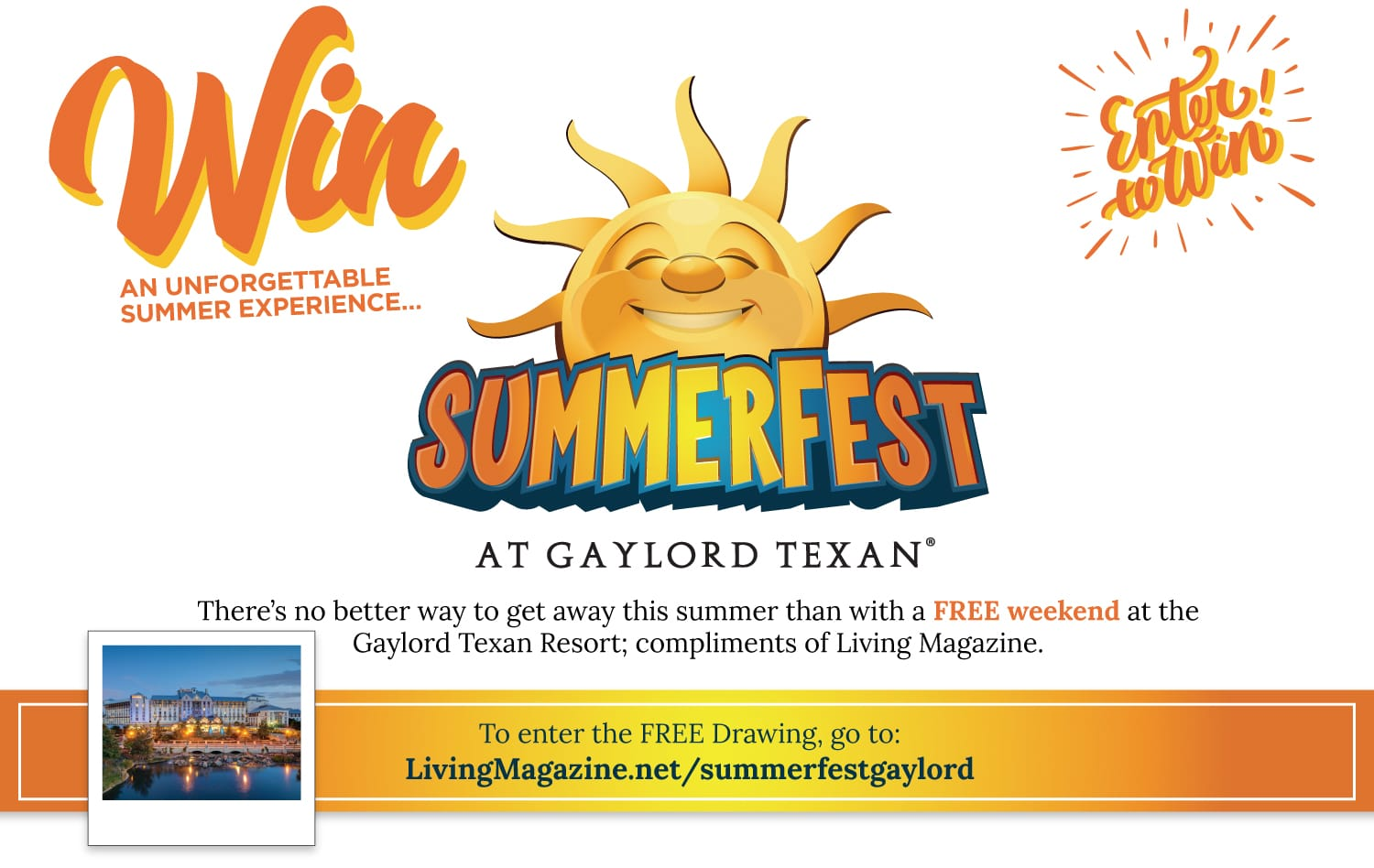 Living Magazine giveaway gaylord texan