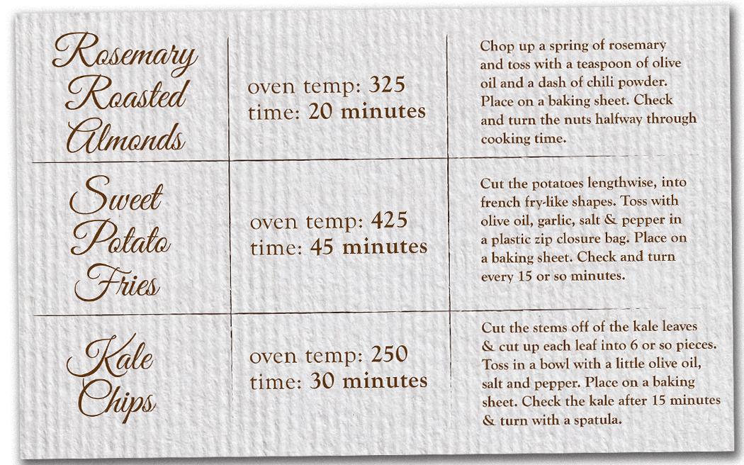 recipe cards so very simple