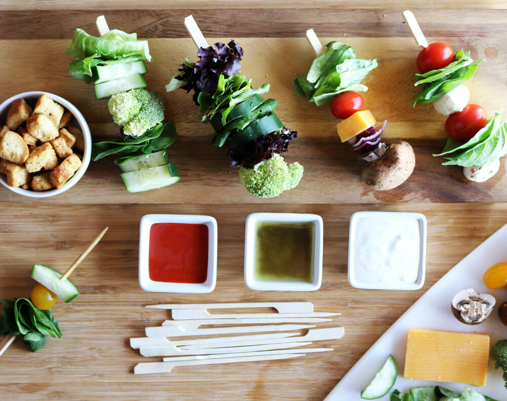Salad on a stick recipe