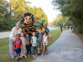 Participating in National Walk To School Day, students from around The Woodlands grabbed their favorite sneakers and stepped out on the many area paths to school early last month.